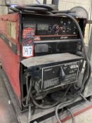 LINCOLN DC-600 Multi-Process Welder, s/n na, w/ LINCOLN Double Header DH-10 Wire Feed and Boom