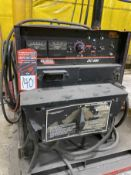 LINCOLN DC-600 Multi-Process Welder, s/n U1070501846, w/ LINCOLN Double Header DH-10 Wire Feed and