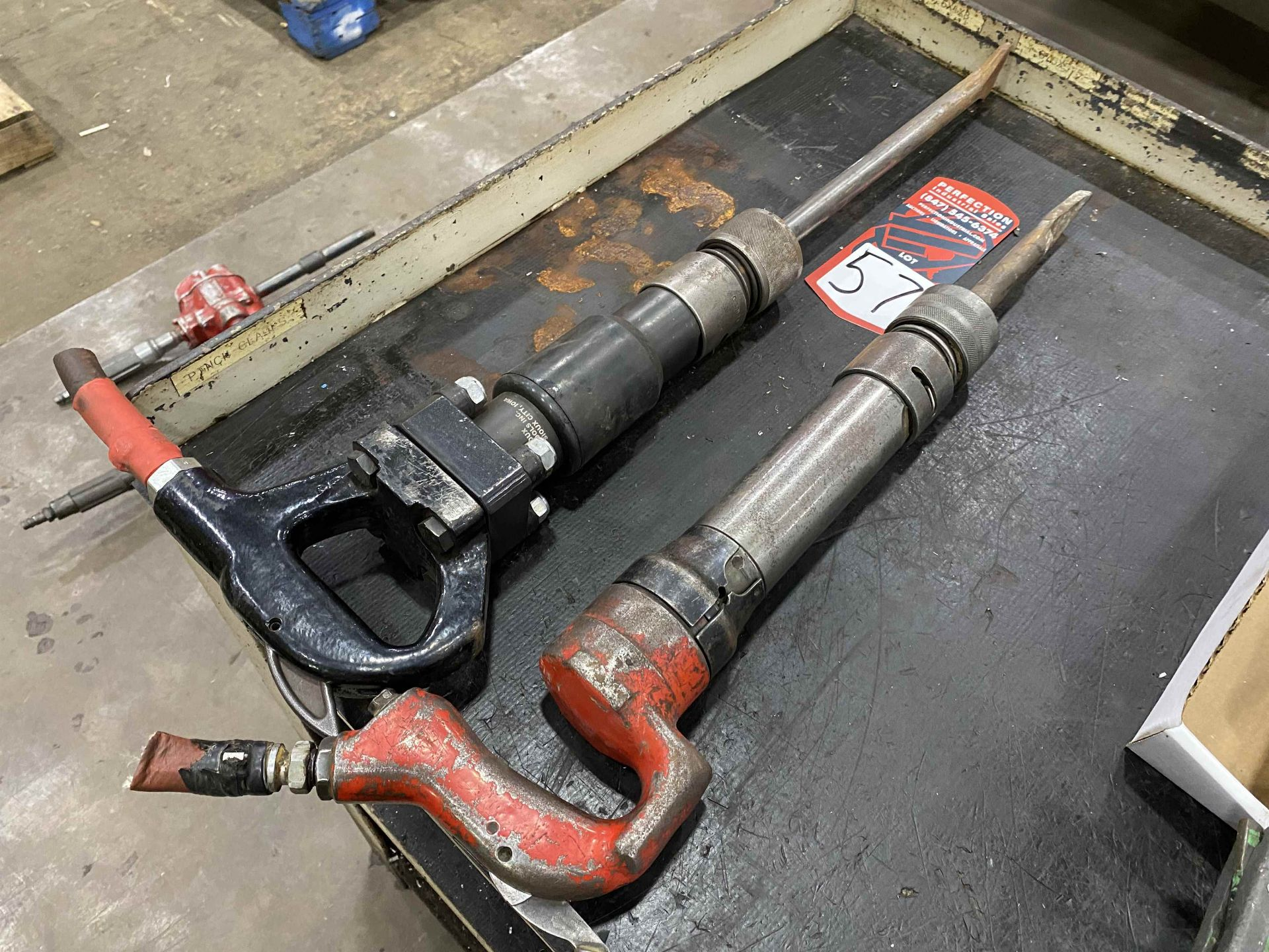Lot of (2) Pneumatic Chisels