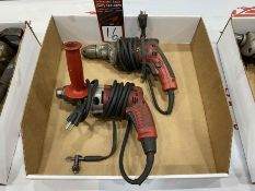 "Lot Comprising (1) MILWAUKEE 3/8"" Drill and (1) MILWAUKEE 1/2 "" Drill"