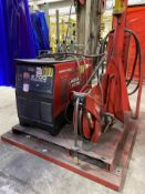 LINCOLN S700 POWER WAVE Advanced Process Welder, s/n U1130807693, w/ LINCOLN Power Feed 10M and Boom