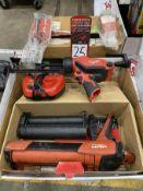 Lot Comprising (1) MILWAUKKE 12V Caulk Gun and (1) HILTI HDM 500 Epoxy Dispenser