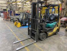 """KOMATSU FG25ST-16 5,000 Lb. LPG Forklift, s/n 214232A, Two-Stage Mast, Side Shift, 48"""" Fork"""