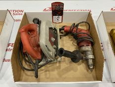"Lot Comprising (1) MILWAUKEE 1/2"" Drill and (1) MILWAUKEE 7-1/4"" Circular saw"
