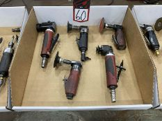 Lot of Pneumatic Right Angle Grinders