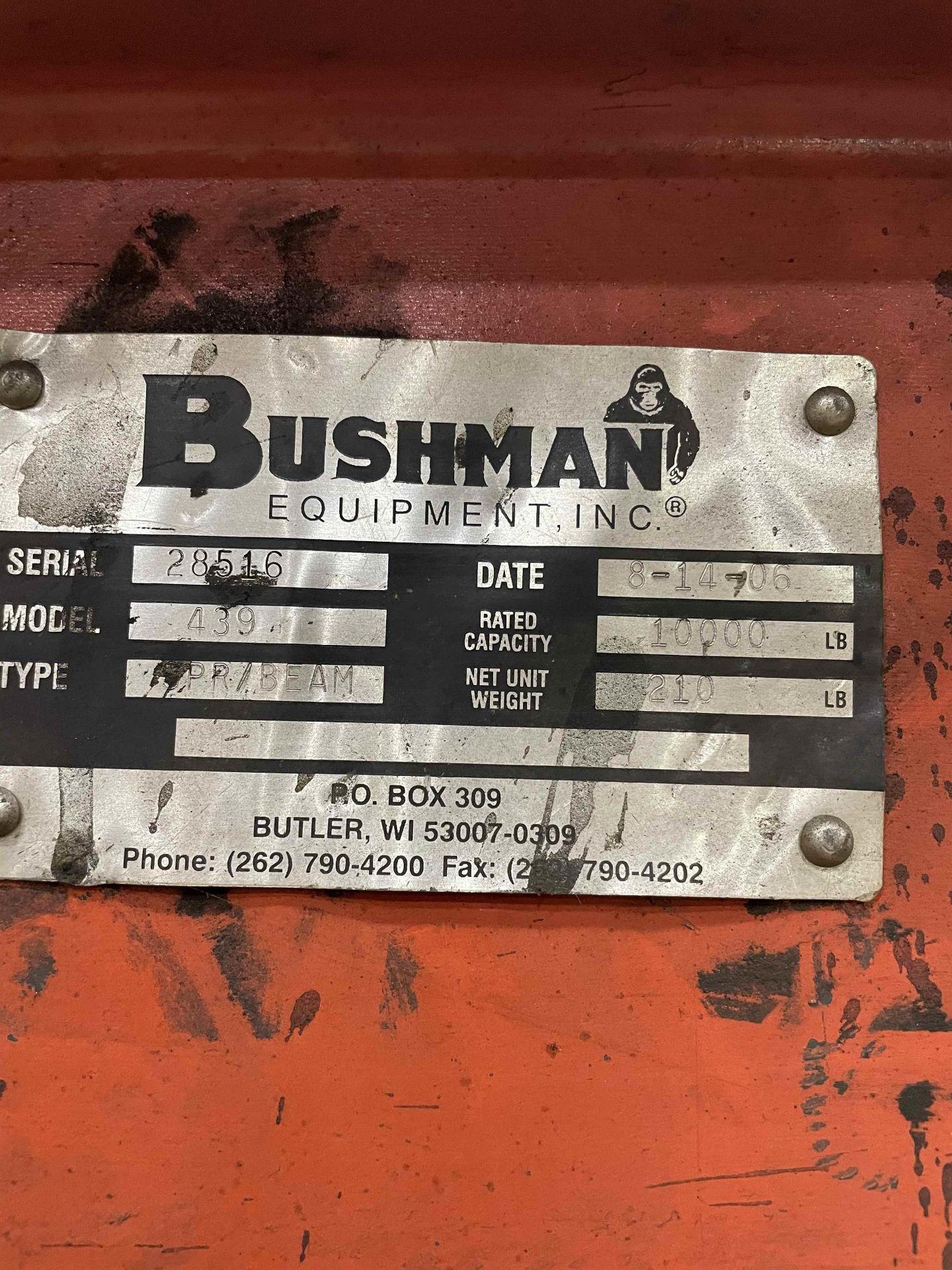 2006 BUSHMAN 439 5-Ton Spreader Beam, s/n 28516, 6'L - Image 2 of 2
