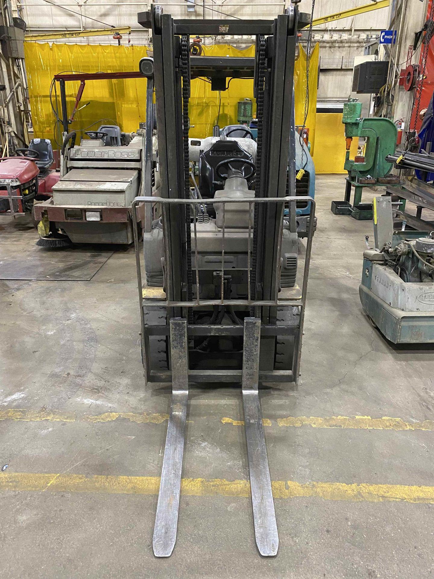 """KOMATSU FG25ST-16 5,000 Lb. LPG Forklift, s/n A234349, Two-Stage Mast, Side Shift, 48"""" Fork - Image 3 of 8"""