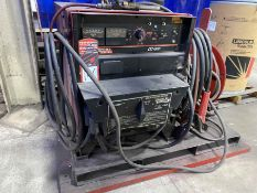 LINCOLN DC-600 Multi-Process Welder, s/n U1070501849, w/ LINCOLN Double Header DH-10 Wire Feed and