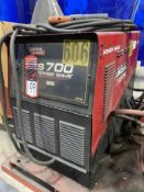 LINCOLN S700 POWER WAVE Advanced Process Welder, s/n U1130808410, w/ LINCOLN Power Feed 10M and Boom
