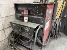 LINCOLN DC-600 Multi-Process Welder, s/n U1070501845, w/ LINCOLN Double Header DH-10 Wire Feed and