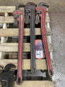 "Lot of (3) RIDGID 36"" Pipe Wrenches"