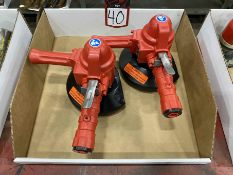 Lot Comprising (2) SIOUX VG20AL Pneumatic Angle and Disc Grinder