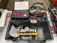 Lot of (2) FLEXCO FSK2 Belt Skivers w/ Mr Shims Belt and Sheave Laser Alignment Tool