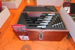 "STARRETT 0-1"" to 5-6"" Micrometer Set, w/ Case"