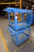 (2) ULINE Plastic Material Handling Carts