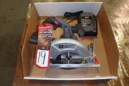 PORTER CABLE PLC 186CS Electric Circular Saw, w/ Charger