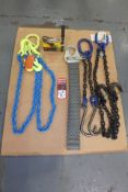 "Lot Comprising 3/8"" x 60"" FASTENAL 12,300 Lb. Capacity Chain Sling; 3/8"" FASTENAL 2,771 Lb."