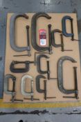 Lot Comprising (10) Assorted C-Clamps