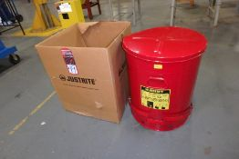 JUSTRITE 09700 Oily Waste Can, (New in Box)