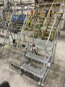 (1) 4-Step Ballymore (1) 3-Step Cotterman Rolling-Step Ladders