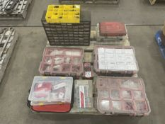 Pallet of Seals, Hydraulic Fittings, Key Stock, Organizers, Socket Head Cap Screws and Master Lock