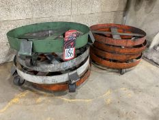 Lot of Assorted 55 Gallon Drum Dollies