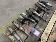 Lot of (10) Cat 50 Tool Holders