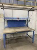 "Global Industries 36"" x 72"" Lighted Wood Top Work Bench"