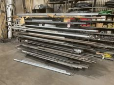 Lot Consisting of Round Stock, Square Stock, Angle and PVC Tube