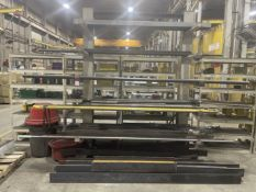 Cantilever Rack w/ Assorted Square and Round Steel Stock