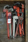 (9) Assorted Monkey Wrenches