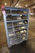Lot Comprising (28) Sets of Jaws; w/ 2-SidedHeavy Duty Metal Rack