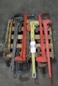 (7) Assorted Large Pipe & Chain Wrenches