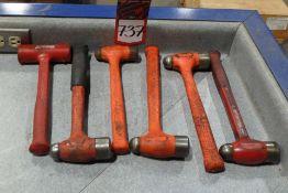Lot Comprising (5) Ball Peen Hammers, (1) Dead Blow Hammer