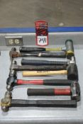 Lot Comprising (4) Assorted Ball Peen Hammers, Claw Hammer, Rubber Mallet, (2) Dead Blow Hammers