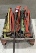 (13) Assorted Large Pipe & Chain Wrenches