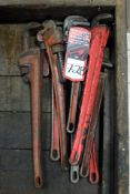 (8) Assorted Monkey Wrenches