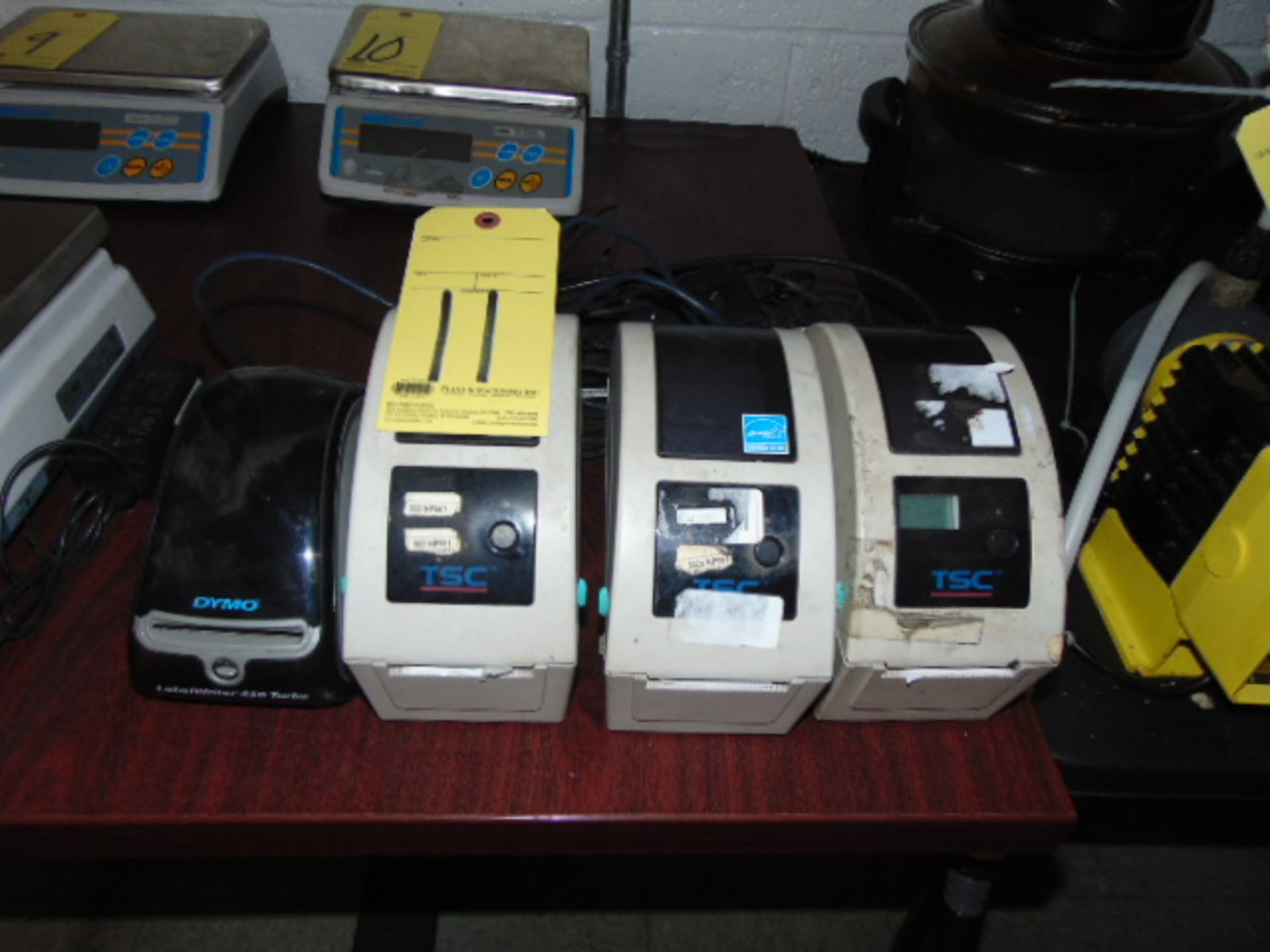 LOT OF LABEL PRINTERS (4), assorted