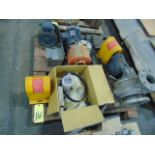 LOT OF PUMP PARTS & MISC., assorted (on seven skids)