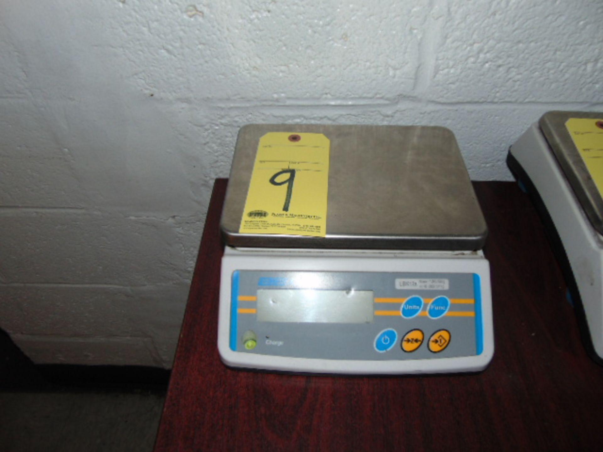 ELECTRONIC BENCH TOP SCALE, ADAM MDL LBK12A, 12 lb. cap.