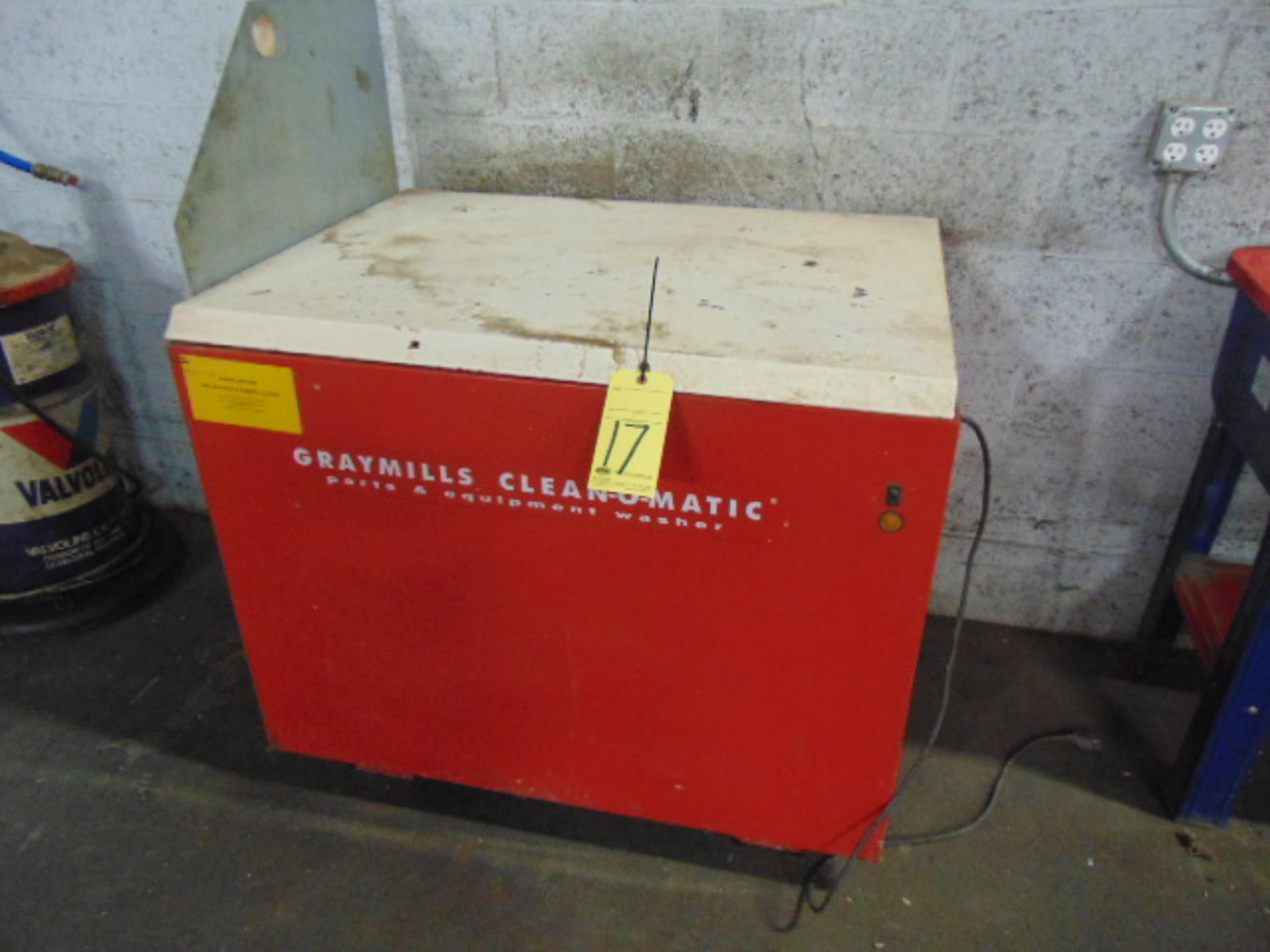 PARTS WASHER, GRAYMILLS CLEAN-O-MATIC MDL. 800A, S/N 1BBJ3