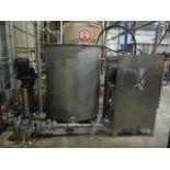 BUFFER TANK, TAIWAN PULP MOLDING MDL. TPM-BTAE, approx. 150 gal., w/pump