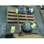 LOT OF ELECTRIC MOTORS (4), assorted (on one skid)