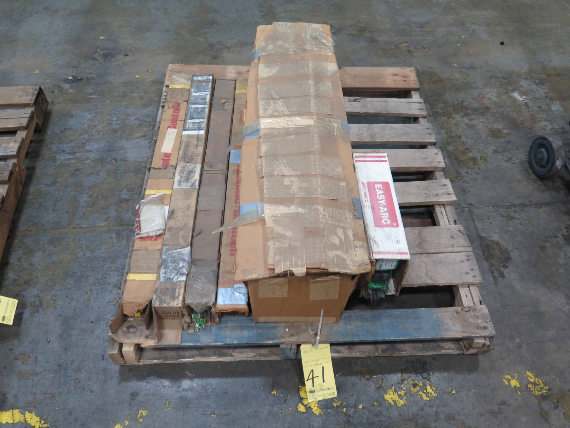 Lot 41 - LOT OF WELDING RODS, assorted (on one pallet)
