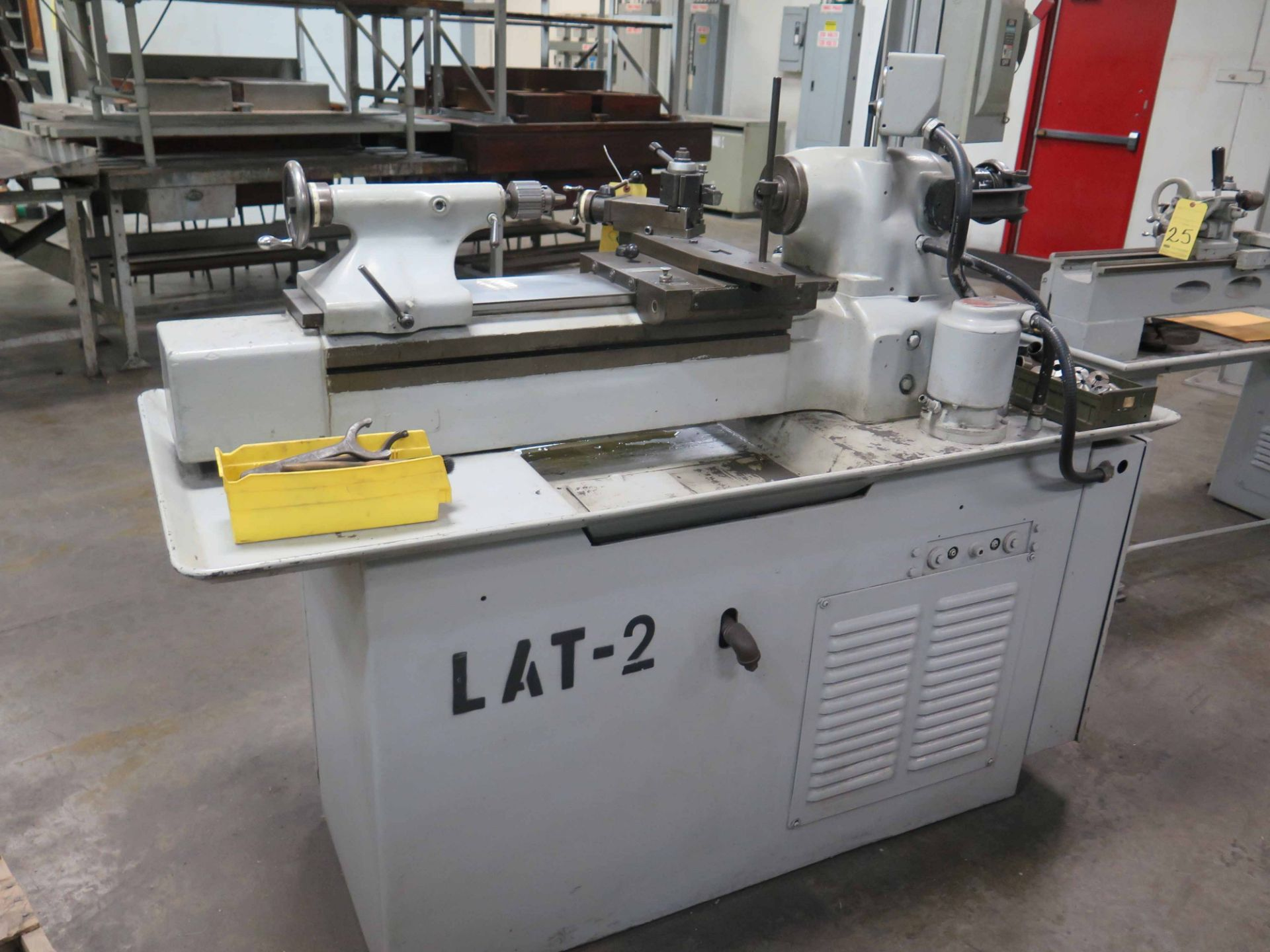 Lot 26 - TOOLROOM LATHE, HARDINGE MDL. TFB-H, 1-1/2 HP motor, 220 v., 3 phase, collet system, crosslide &
