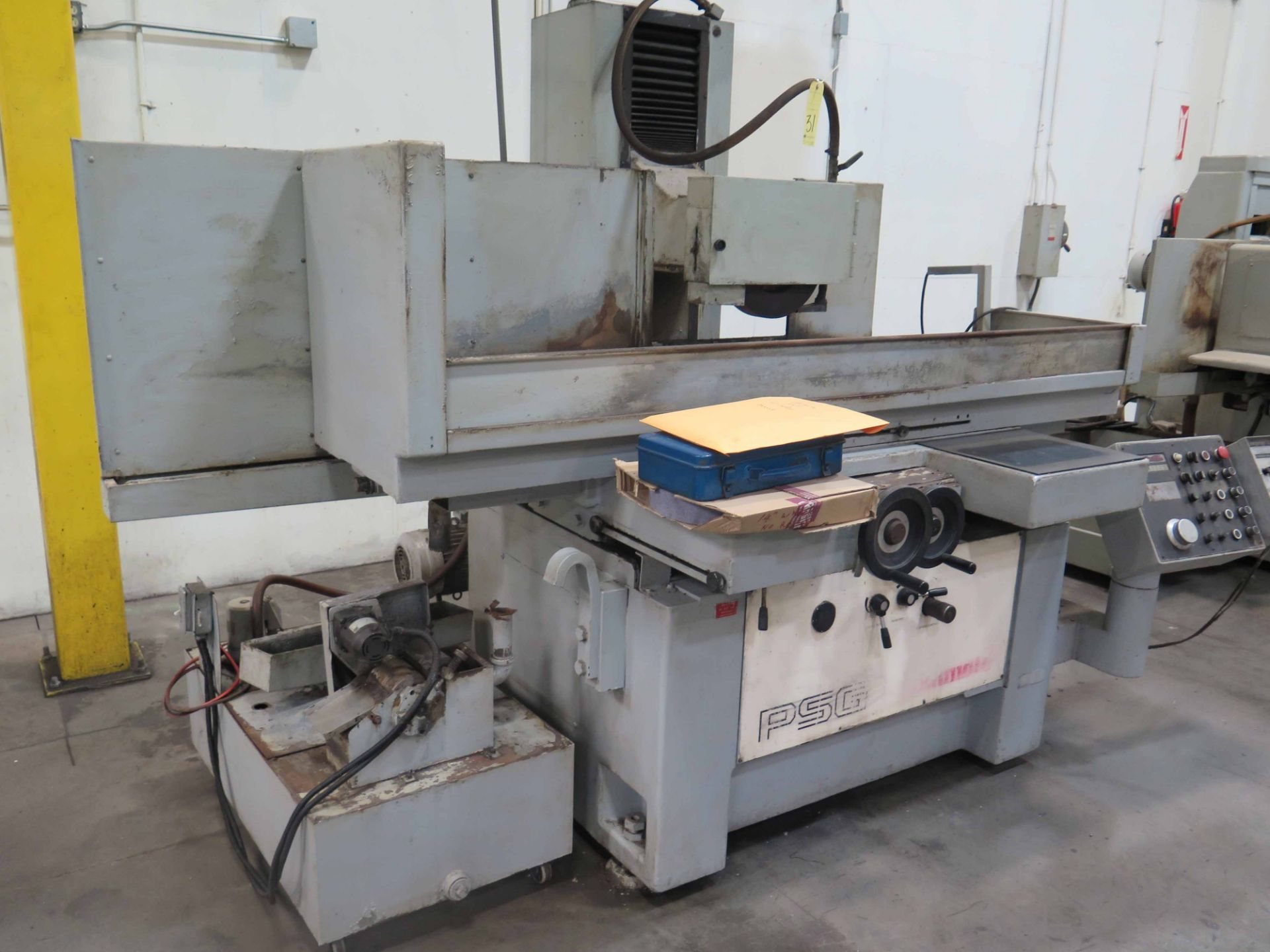 """Lot 31 - HYDRAULIC SURFACE GRINDER, OKAMOTO MDL. PSG 1632DX, 15-3/4"""" x 31-1/2"""" electromagnetic chuck,"""