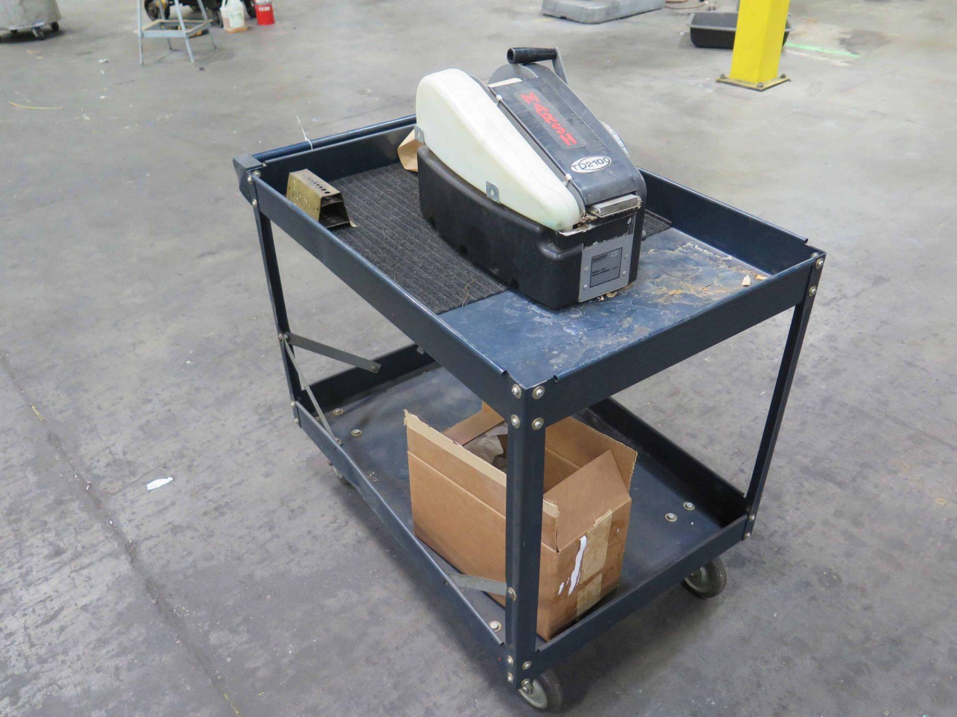 Lot 15 - TAPE DISPENSER, MARSH TD2100 (on metal shop cart)