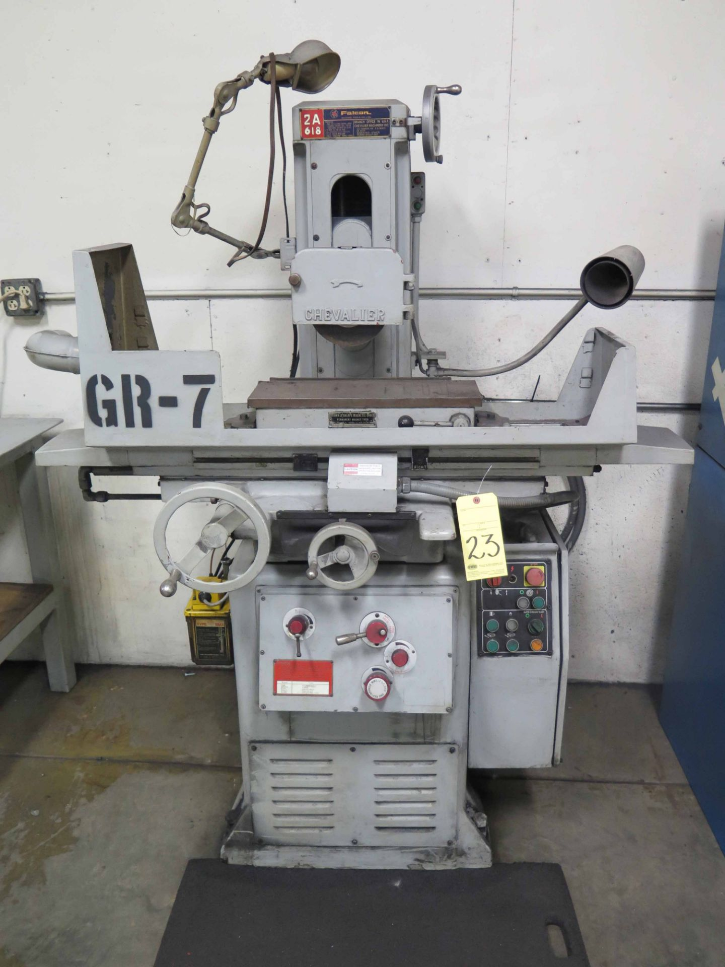 """Lot 23 - SURFACE GRINDER, CHEVALIER FALCON MDL. SG-2A618, Brown & Sharpe 6"""" x 18"""" manual magnetic chuck,"""