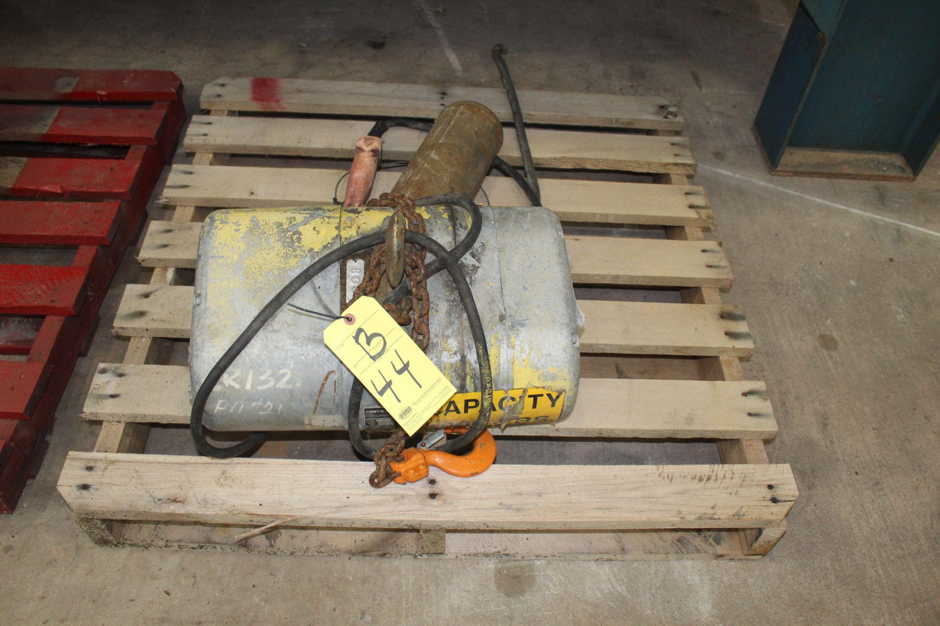ELECTRIC HOIST, CM 1,000 LB. CAP.