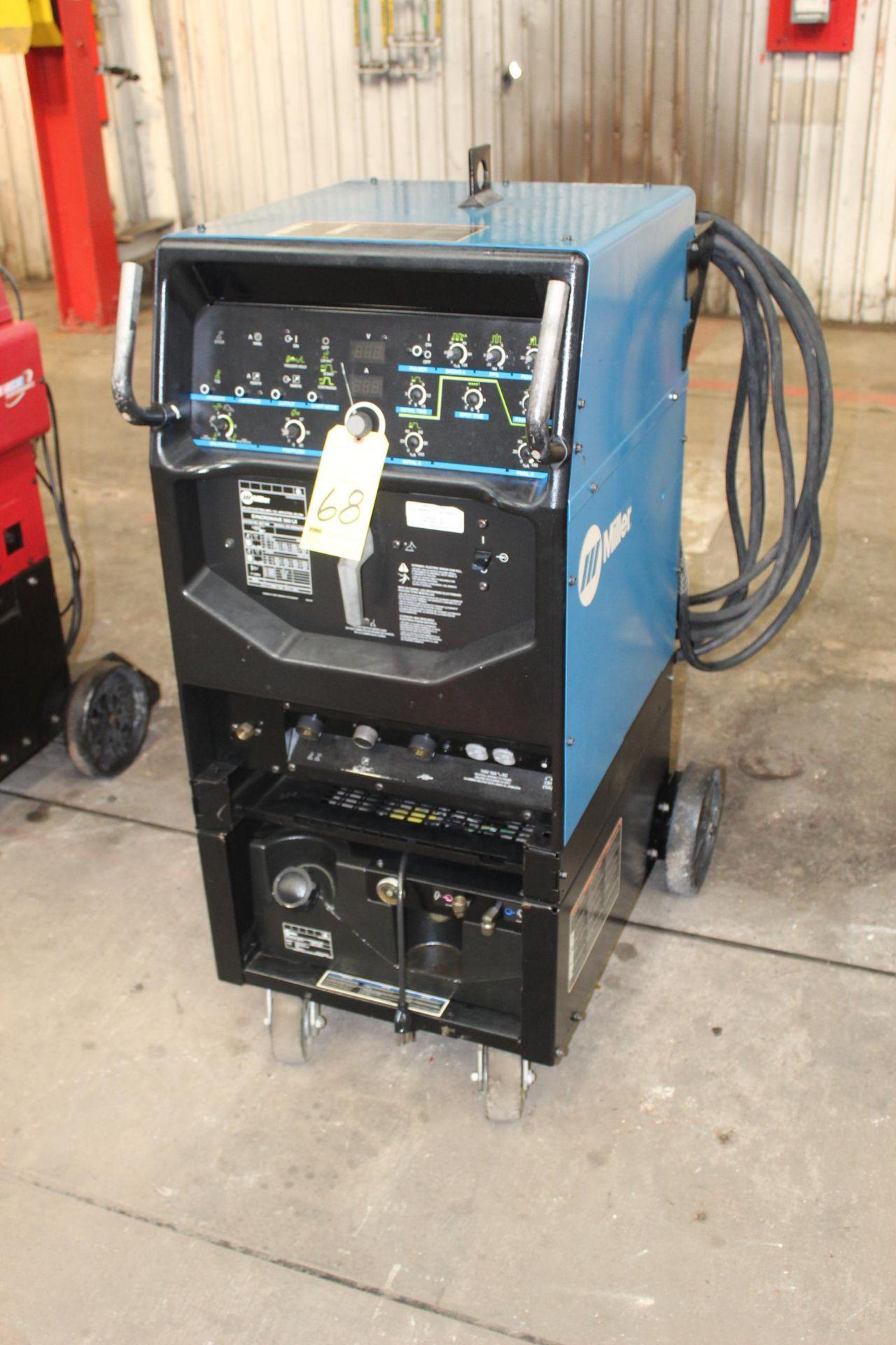 Lot 68 - TIG WELDER, MILLER MDL. SYNCROWAVE 350DX, 250 amps @ 30 v., 100% duty cycle, S/N MD040398L